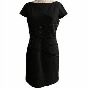 Jessica Simpson black dress with sequins sz 12